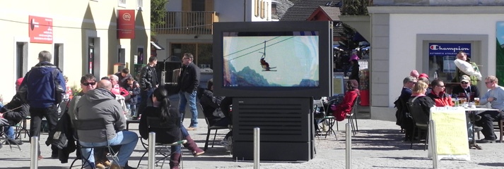 Outdoor Info-Stele Digital Signage