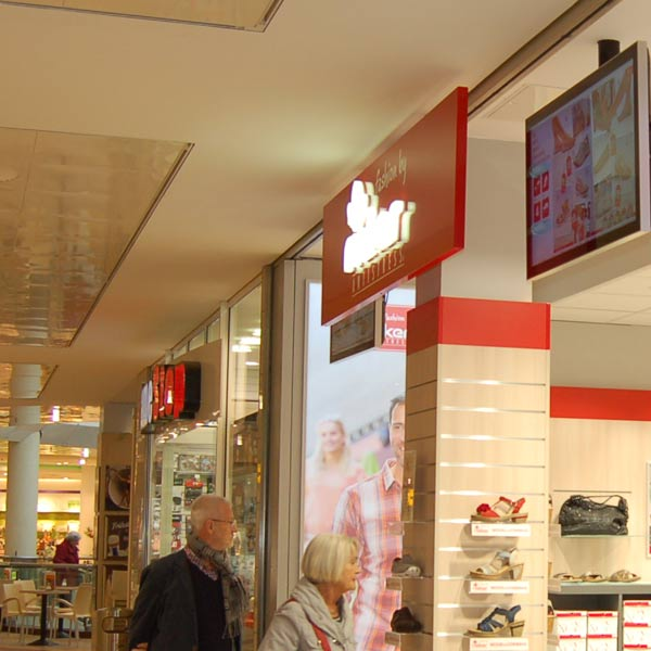 Digital-Signage im Einkaufcenter